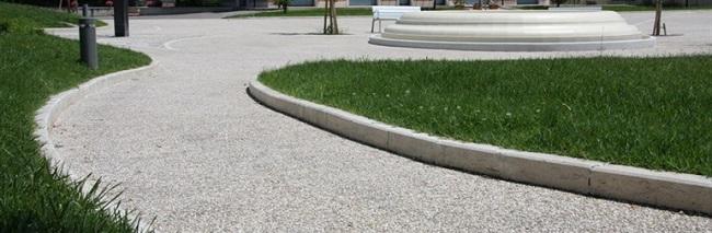 Pavimentazione in calcestruzzo architettonico stampato