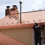 copertura tetto in rame