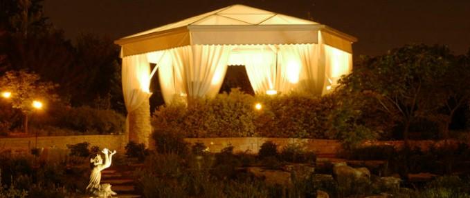 Illuminazione naturale in giardino