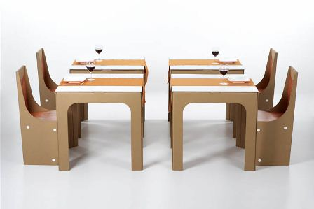 Arredamento ecologico i mobili costruiti col cartone for Arredi di cartone