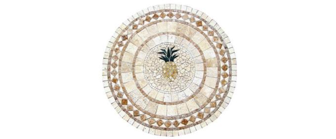 Tavoli mosaico da giardino for Piccole case quadrate