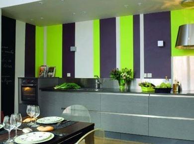 Pareti A Righe In Cucina : Pareti a righe. le righe sulla parete per ambienti moderni