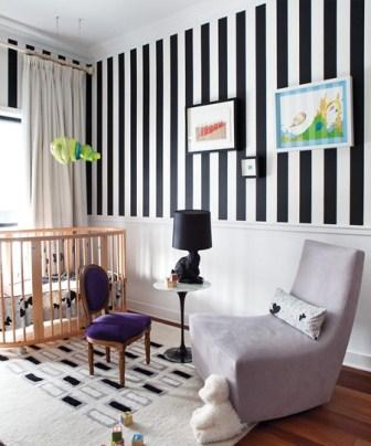 pareti righe pittura