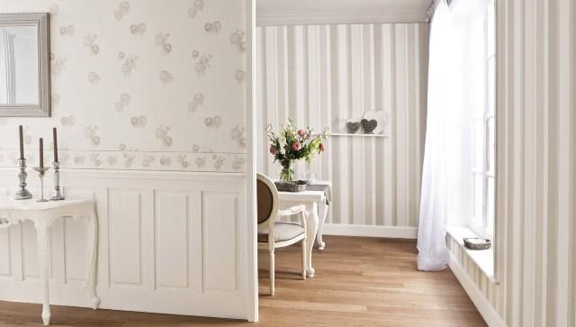 Pareti A Strisce Shabby : Pittura pareti shabby chic: come dipingere le pareti a strisce