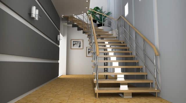 Materiali scale interne legno e ferro per scale di design - Scale appartamento interne ...
