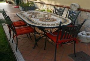 Tavoli mosaico da giardino