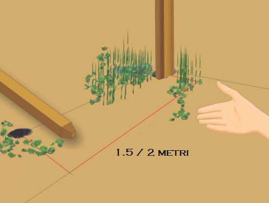 distanza pali staccionata