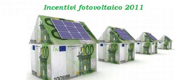Incentivi fotovoltaico 2011 in diminuzione