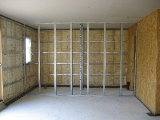Pareti in cartongesso dove come usarle e come si realizza una parete - Parete divisoria in cartongesso ...