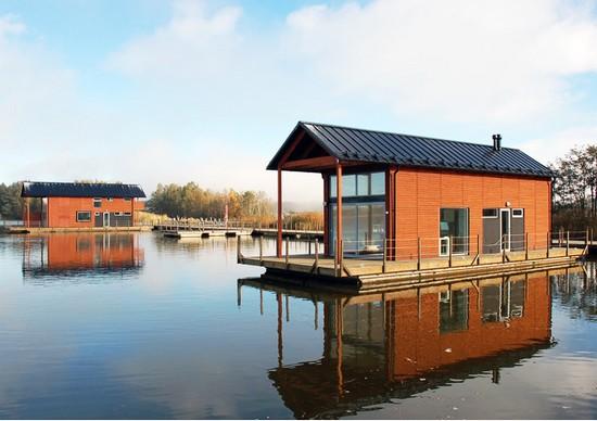 Il primo floating village case galleggianti in finlandia for Strutture case moderne