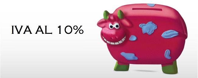 Iva 10%. Modulo gratuito utilizzabile per la richiesta Iva ridotta al 10%