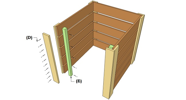montare pannello anteriore della compostiera