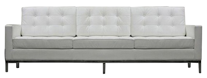 Pulire il divano in pelle bianca smacchiare lavare - Divano bianco in pelle ...