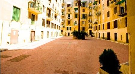 cortile di condominio