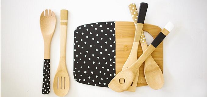 Utensili da cucina in legno ecco come tenerli sempre puliti for Appendi utensili da cucina