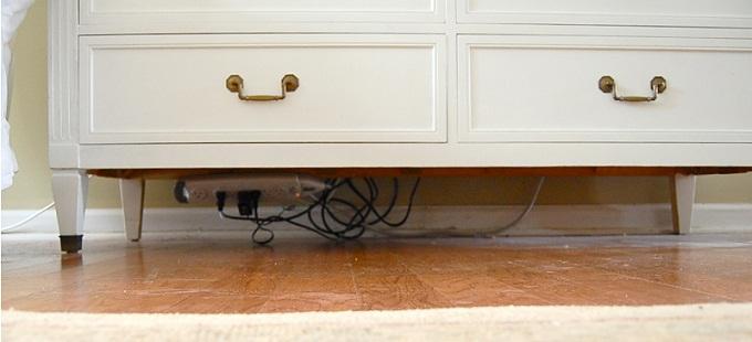 Nascondere i fili elettrici