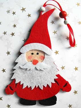 Addobbi natalizi in feltro - Creazioni fai da te per la casa ...