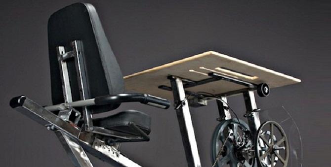 La scrivania a pedali