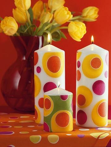 candele in casa profumazione