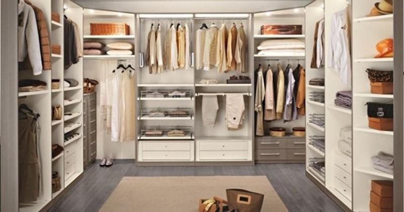 Progettare la cabina armadio - Interni per cabine armadio ...