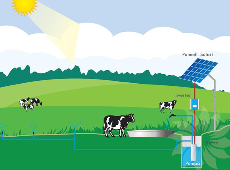 pompe solari per abbeveratoio bestiame