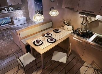 Awesome Soggiorno Angolo Cottura Soluzioni Pictures - House Design ...