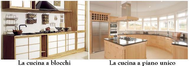 Cucina a blocchi o a piano unico?
