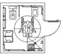 Bagno per disabili misure design casa creativa e mobili - Normativa bagno disabili ...