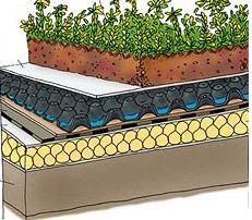 Giardino pensile for Sezione tetto giardino